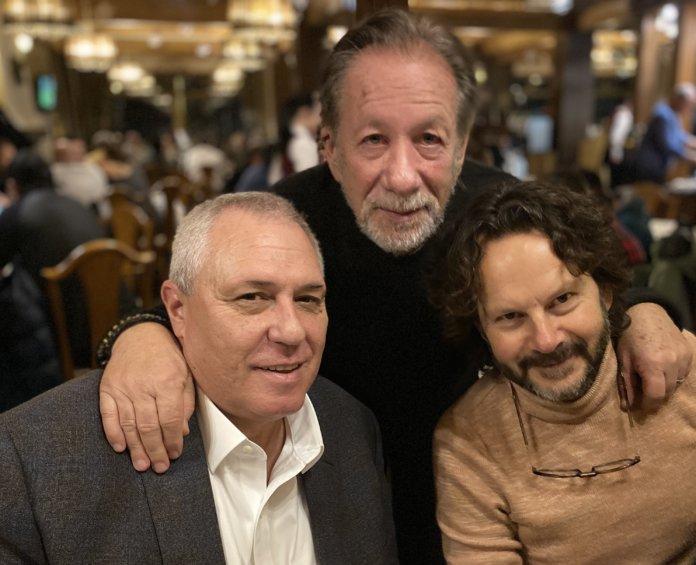 От ляво надясно - собственикът на Пирин голф Йордан Каназирев, Моше Диамант и Рам Бергман
